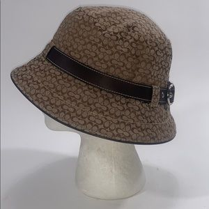 Coach Signature bucket hat tan brown size S women